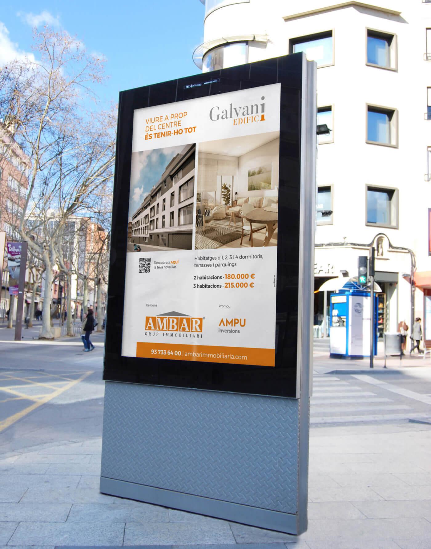 publicidad exterior en Terrassa, Ambar Immobiliària