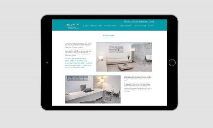 diseño web en terrassa, idermic