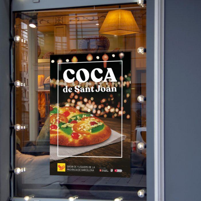 disseny poster coca de sant joan - gremi de flequers de la província de barcelona