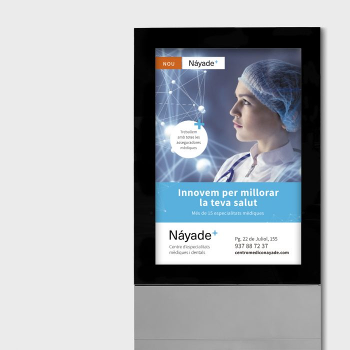 Campanya inauguració Centro Médico Náyade - mupi