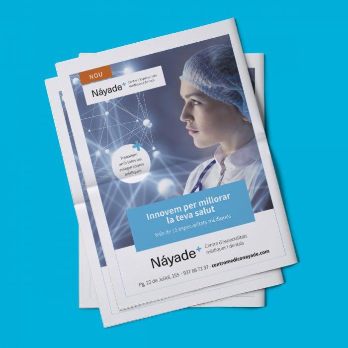Campanya inauguració Centro Médico Náyade - premsa escrita