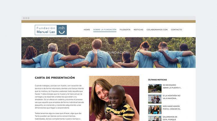 Disseny i programació web Fundación Manuel Lao Terrassa